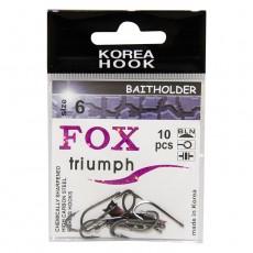 Крючки FOX baitholder / № 6 / уп. 10шт