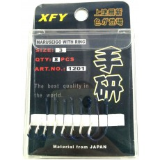 Крючки / XFY / 1201 / Size # 4 / 8pc