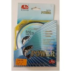 Шнур плетеный Power flexibility / 100м / 0.25мм / 16.0кг / зеленая