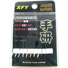 Крючки / XFY / 1201 / Size # 3 / 8pc