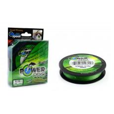 Шнур плетеный POWER Pro Dyneema / 125м / 0.23мм / 14.2кг / зеленая